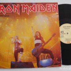 Discos de vinilo: IRON MAIDEN. 12 SINGLE. RUNNING FREE LIVE. EDICIÓN ORIGINAL ESPAÑOLA DEL 1985. Lote 289354058