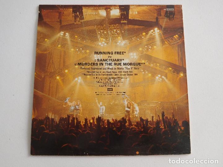 Discos de vinilo: Iron Maiden. 12 Single. Running free live. Edición original española del 1985 - Foto 3 - 289354058