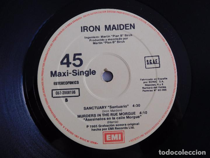 Discos de vinilo: Iron Maiden. 12 Single. Running free live. Edición original española del 1985 - Foto 6 - 289354058