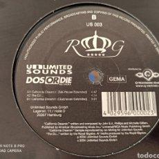 """Discos de vinilo: ROYAL GIGOLOS - CALIFORNIA DREAMIN' (12"""", PROMO). Lote 289344648"""