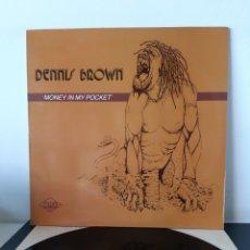 Discos de vinilo: DENNIS BROWN. MONEY IN MY POCKET. MAXISINGLE.. Lote 289362638