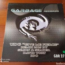 """Discos de vinilo: UDG - GIVE ME FIERCE 2005 (12""""). Lote 289341083"""
