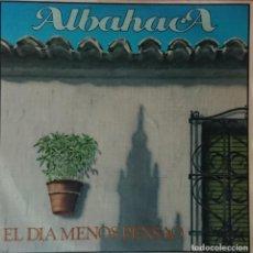 Discos de vinilo: ALBAHACA - EL DIA MENOS PENSAO - MANGLIS. Lote 289375538