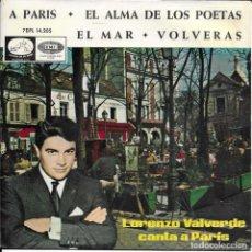 Discos de vinilo: LORENZO VALVERDE A PARIS. Lote 289386453