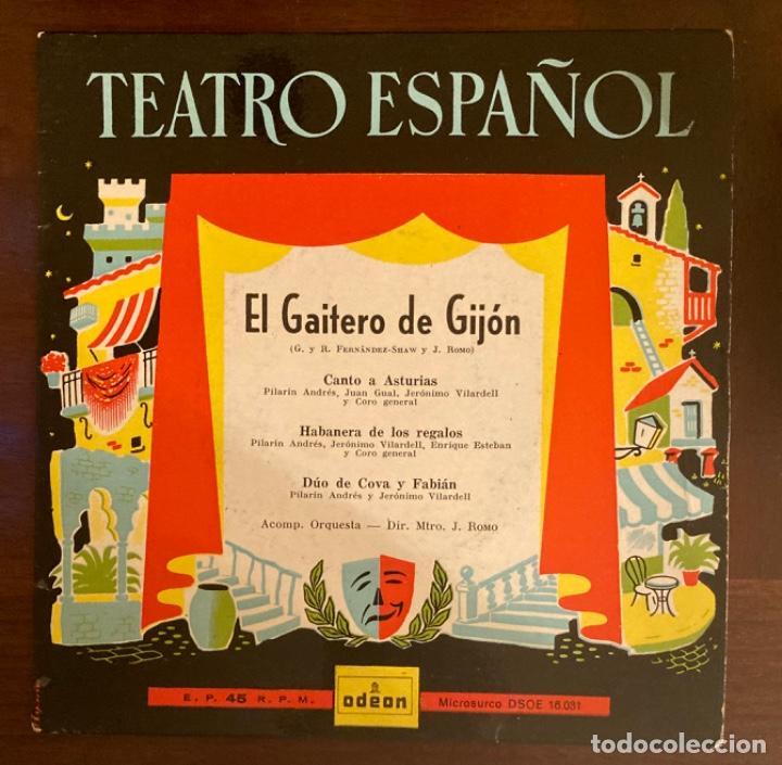 TEATRO ESPAÑOL - EL GAITERO DE GIJÓN (Música - Discos de Vinilo - EPs - Clásica, Ópera, Zarzuela y Marchas)