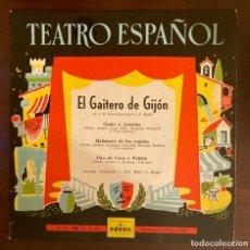 Discos de vinilo: TEATRO ESPAÑOL - EL GAITERO DE GIJÓN. Lote 289389908