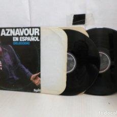 Discos de vinilo: AZNAVOUR--EN ESPAÑOL--SELECCION--2LP--BARCLAY-- VENECIA SIN TI -MOVIEPLAY--1981--MADRID--. Lote 289392298