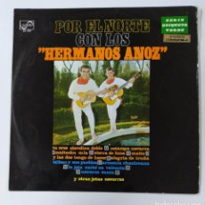 Discos de vinilo: POR EL NORTE CON LOS HERMANOS ANOZ. JOTAS NAVARRAS. LP. TDKDA46. Lote 289394963