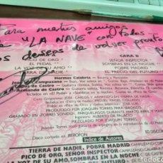 Discos de vinilo: CAJJ143 LP BARON ROJO TIERRA DE NADIE 1987 CREO Q NUNCA PUESTO GRAN ESTADO FIRMADO CARLOS DE CASTRO. Lote 289402973
