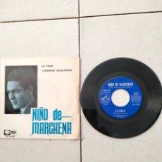 Discos de vinilo: NIÑO DE MARCHENA - LA ROSA - SINGLE - SPAIN - EMI - PR. Lote 289403428