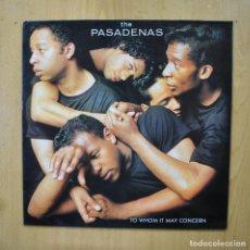 Discos de vinilo: THE PASADENAS - TO WHOM IT MAY CONCERN - LP. Lote 289407903