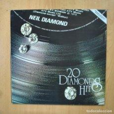 Discos de vinilo: NEIL DIAMOND - 20 DIAMONDS HITS - LP. Lote 289407958