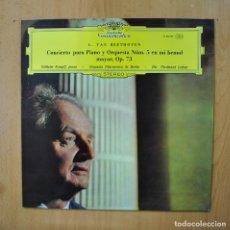 Discos de vinilo: BEETHOVEN - CONCIERTO PARA PIANO Y ORQUESTA NUM 5 EN MI BEMOL MAYOR OP 73 - LP. Lote 289408063
