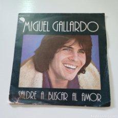 Discos de vinilo: MIGUEL GALLARDO - SALDRE A BUSCAR EL AMOR 1978 EMI. Lote 289408953