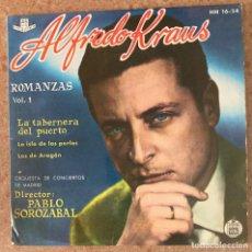 Discos de vinilo: ALFREDO KRAUS ROMANZAS. Lote 289417443