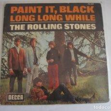 Discos de vinilo: THE ROLLING STONES: PAINT IT, BLACK / LONG LONG WHILE 1966 DECCA 79001. Lote 289436453