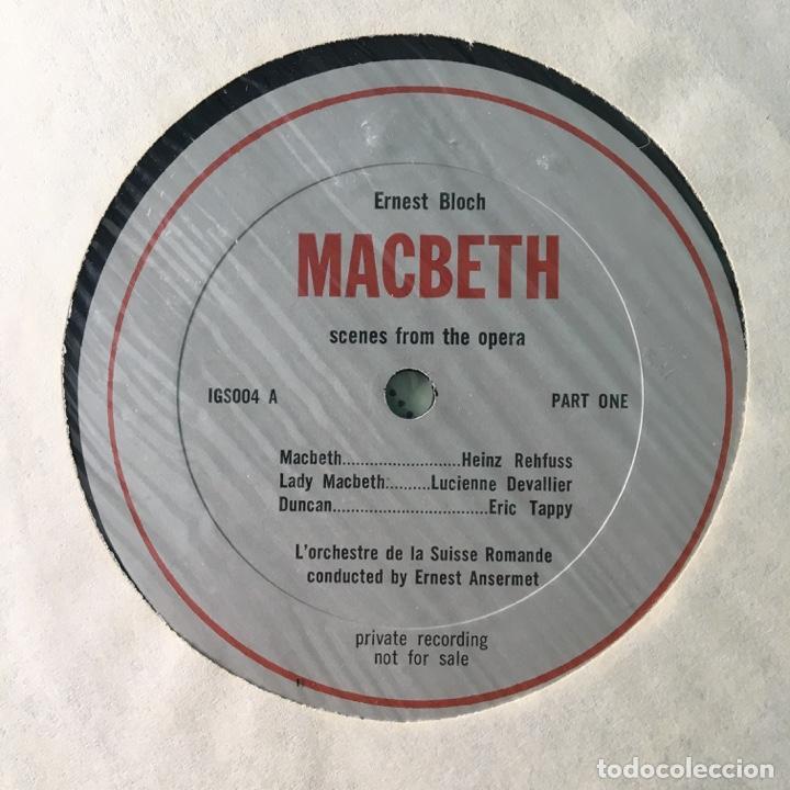 Discos de vinilo: Bloch, LOrchestre De La Suisse Romande, Ernest Ansermet – Macbeth, Secenes From The Opera, US Box - Foto 4 - 289442558