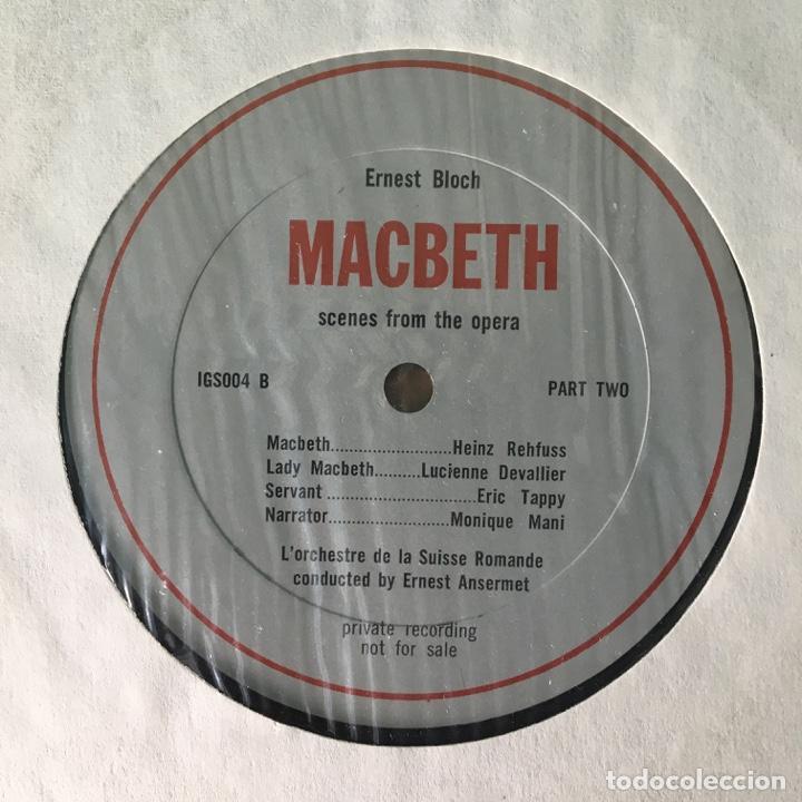 Discos de vinilo: Bloch, LOrchestre De La Suisse Romande, Ernest Ansermet – Macbeth, Secenes From The Opera, US Box - Foto 5 - 289442558