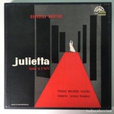 Discos de vinilo: BOHUSLAV MARTINŮ – JULIETTA, 3 LPS BOX SET, CZECH REPUBLIC 1964 SUPRAPHONU. Lote 289442958