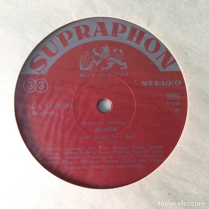 Discos de vinilo: Bohuslav Martinů – Julietta, 3 LPs Box Set, Czech Republic 1964 Supraphonu - Foto 6 - 289442958
