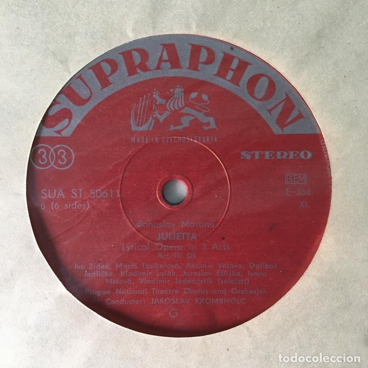 Discos de vinilo: Bohuslav Martinů – Julietta, 3 LPs Box Set, Czech Republic 1964 Supraphonu - Foto 11 - 289442958