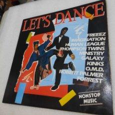 Disques de vinyle: LET´S DANCE - RECOPILATORIO. IMAGINATION/HUMAN LEAGUE/THOMPSON TWINS/MINISTRY/KINKS/OMD/FORREST. Lote 289450788