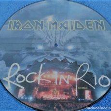 Discos de vinilo: IRON MAIDEN ROCK IN RIO LP PICTURE MANOWAR SAXON DIO DORO PANTERA MAGADETH. Lote 289462263