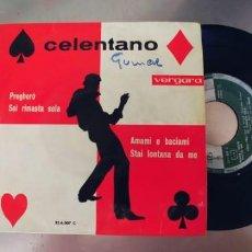 Discos de vinilo: ADRIANO CELENTANO-EP PREGHERO +3. Lote 289462383