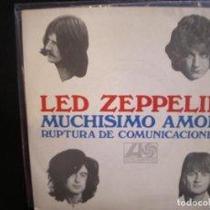Discos de vinilo: LED ZEPPELIN- MUCHISIMO AMOR. SINGLE.. Lote 289465808