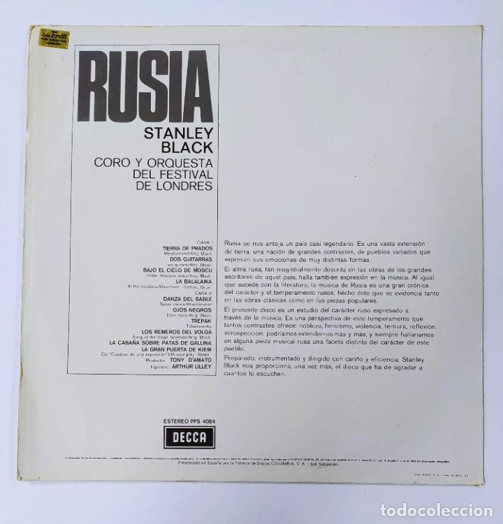 Discos de vinilo: RUSSIA. STANLEY BLACK & THE LONDON FESTIVAL ORCHESTRA AND CHORUS. LP. TDKDA47 - Foto 2 - 289469663