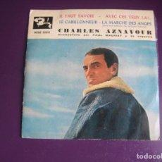 Discos de vinilo: CHARLES AZNAVOUR + PAUL MAURIAT – IL FAUT SAVOIR EP BARCLAY 1961 - CHANSON FRANCIA - LEVE USO. Lote 289473448