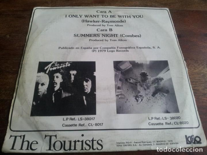 Discos de vinilo: The Tourists - I only want to be with you, summers night - single original Logo españa 1980 - Foto 2 - 289485913