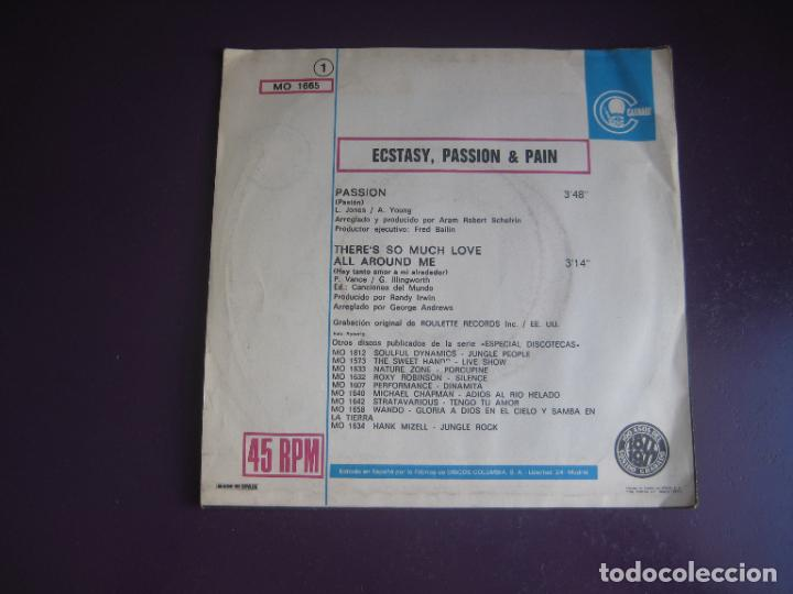Discos de vinilo: Ecstasy, Passion & Pain – Passion / Theres So Much Love All Around Me - Sg CARNABY 1977 - DISCO 70 - Foto 2 - 289486128