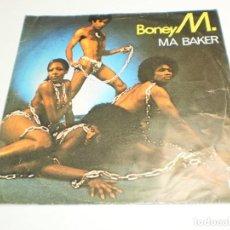 Discos de vinilo: SINGLE BONEY M. MA BAKER. A WOMAN CAN CHANGE A MAN. ARIOLA 1977 SPAIN (PROBADO, BUEN ESTADO). Lote 289488083