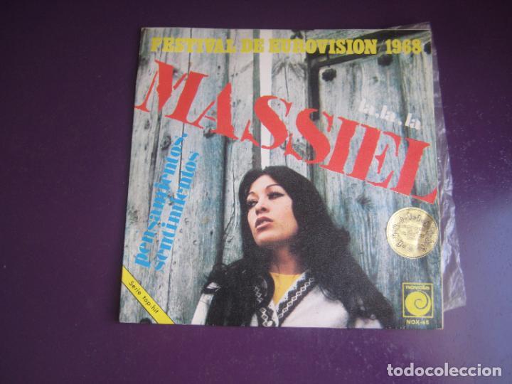 MASSIEL - LA LA LA - SG NOVOLA 1968 - EUROVISION - POCO USO - POP 60'S (Música - Discos - Singles Vinilo - Grupos Españoles 50 y 60)