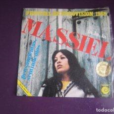 Discos de vinilo: MASSIEL - LA LA LA - SG NOVOLA 1968 - EUROVISION - POCO USO - POP 60'S. Lote 289488883