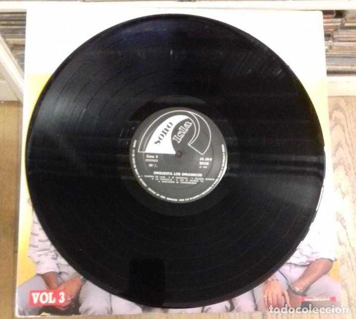 Discos de vinilo: ORQUESTA LOS DINAMICOS VOL. 3 ED. ESPAÑOLA 1986 - Foto 3 - 289489288