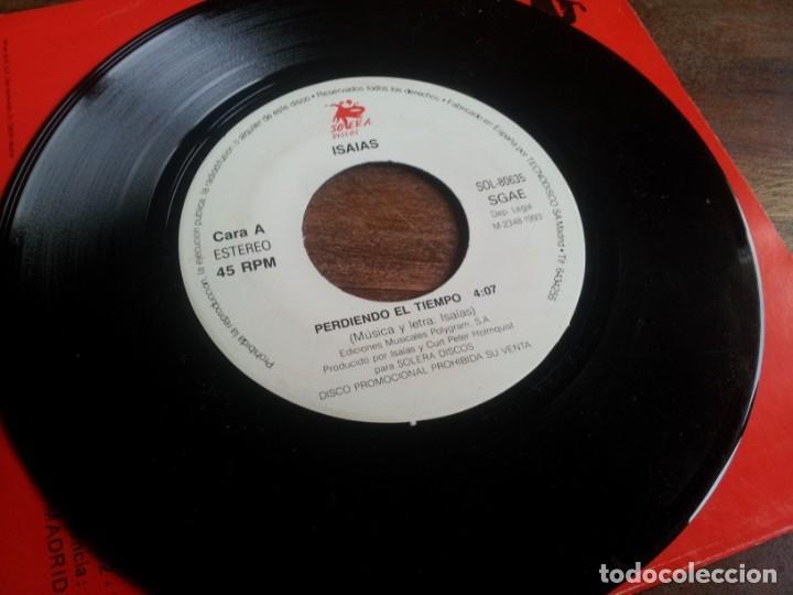Discos de vinilo: Isaias - Perdiendo el tiempo - single original promocional Solera discos 1993 con funda generica - Foto 2 - 289489813
