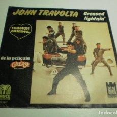 Discos de vinilo: SINGLE JOHN TRAVOLTA. GREASEL LIGHTNIN'. BABY I COULD BE SOGOOD AL LOVIN' YOU SAUCE 1978 SPAIN. Lote 289489848