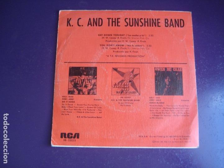 Discos de vinilo: KC & The Sunshine Band – Get Down Tonight - Sg RCA 1975 - DISCO 70S - CON USO, NADA GRAVE - Foto 2 - 289490433