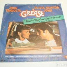 Discos de vinilo: SINGLE JOHN TRAVOLTA, OLIVIA NEWTON JOHN. GREASE. YOU'RE THE ONE THAT I WANT. RSO 1978 SPAIN. Lote 289490858