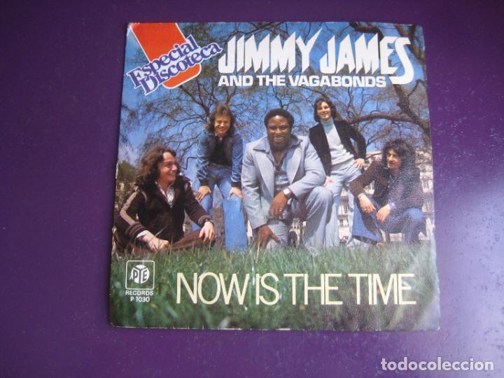 JIMMY JAMES & THE VAGABONDS – NOW IS THE TIME - SG PYE 1976 - DISCO ELECTRONICA 70'S - POCO USO (Música - Discos - Singles Vinilo - Disco y Dance)