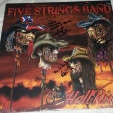 Discos de vinilo: FIVE STRING BAND. HELLRIDE LP. SOUTHERN ROCK. VINILO 180 GRAMOS. FIRMADO POR LA BANDA. Lote 289497943