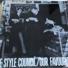 Discos de vinilo: THE STYLE COUNCIL OUR FAVOURITE SHOP LP SPAIN GATEFOLD TRIPLE HOJA Y LETRAS. Lote 289499168