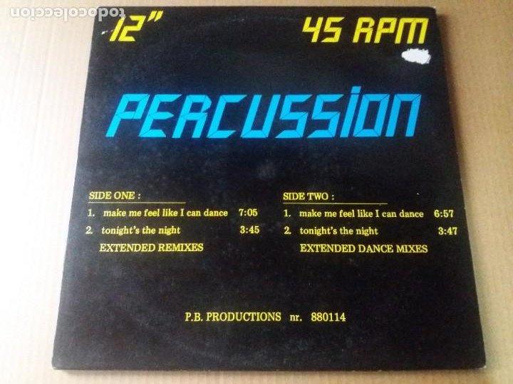 PERCUSSION / MAKE ME FEEL LIKE I CAN DANCE / MAXI-SINGLE 12 PULGADAS (Música - Discos de Vinilo - Maxi Singles - Electrónica, Avantgarde y Experimental)