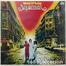 Discos de vinilo: SUPERMAX - WORLD OF TODAY - LP HISPAVOX 1978. Lote 289503393
