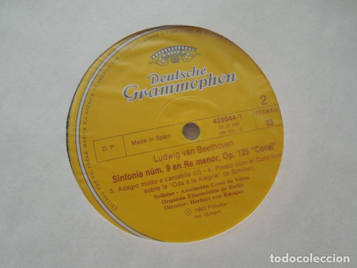 Discos de vinilo: BEETHOVEN-9 SINFONIAS-HERBERT VON KARAJAN-8 LPS DEUTSCHE GRAMMOPHON EN CAJA CON LIBRETO-1ª ED. 1963. - Foto 2 - 289505128