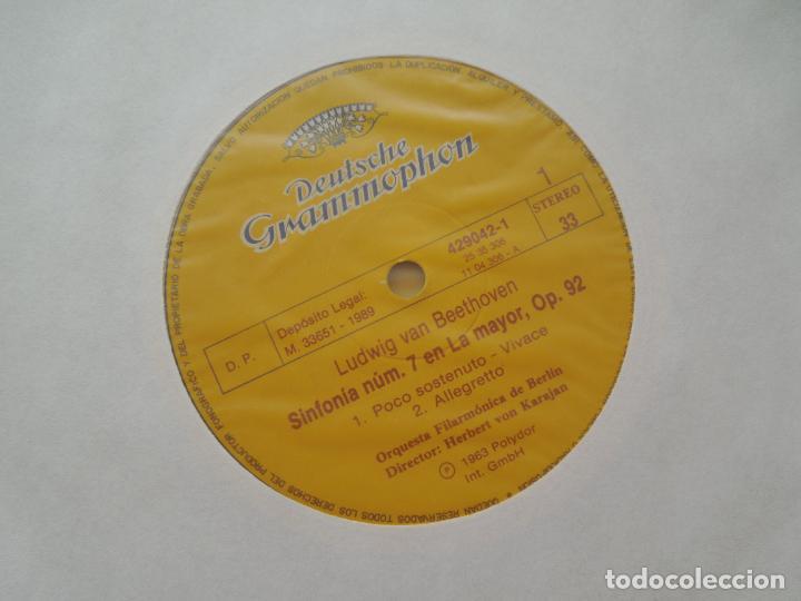 Discos de vinilo: BEETHOVEN-9 SINFONIAS-HERBERT VON KARAJAN-8 LPS DEUTSCHE GRAMMOPHON EN CAJA CON LIBRETO-1ª ED. 1963. - Foto 5 - 289505128