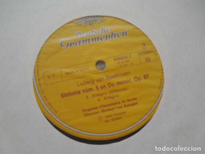 Discos de vinilo: BEETHOVEN-9 SINFONIAS-HERBERT VON KARAJAN-8 LPS DEUTSCHE GRAMMOPHON EN CAJA CON LIBRETO-1ª ED. 1963. - Foto 6 - 289505128