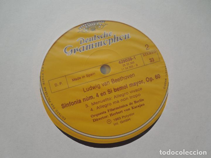 Discos de vinilo: BEETHOVEN-9 SINFONIAS-HERBERT VON KARAJAN-8 LPS DEUTSCHE GRAMMOPHON EN CAJA CON LIBRETO-1ª ED. 1963. - Foto 8 - 289505128